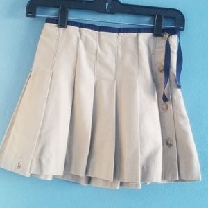 RALPH LAUREN  TAN COLORED  PLEATED GIRLS SKIRT
